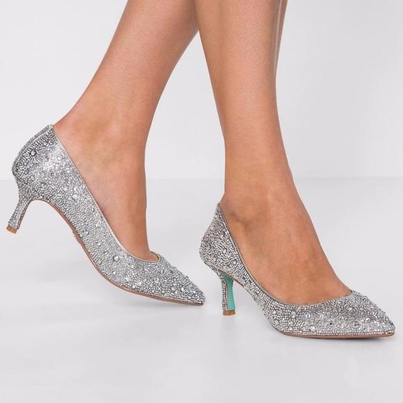 361560c7d39 Betsey Johnson Shoes - Blue By Betsey Johnson Jora Crystal Pumps